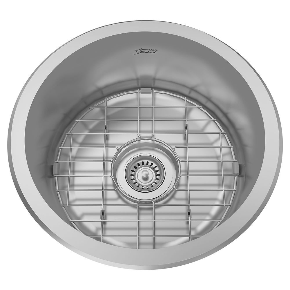 American Standard Portsmouth 20 20 in Round Bar Sink   The Home ...