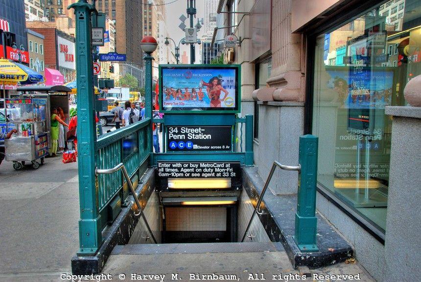 Subway Entrance New York City Manhattan Photography Manhattan New York