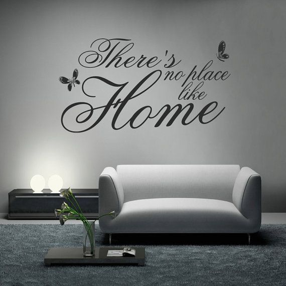 No Place Like Home vinyl wall art sticker saying words family decor home DIY