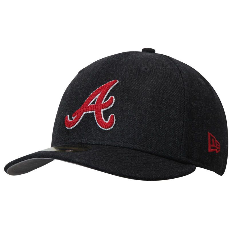 24e3371864a Atlanta Braves New Era Crisp Low Profile 59FIFTY Fitted Hat - Heathered Navy
