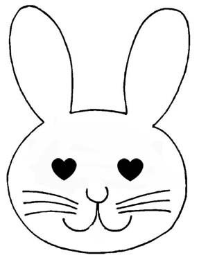 Paques Gabarit Lapin Google Search Bunny Drawing Easter Templates Bunny Face