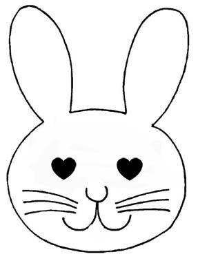 Assez gabarit ou coloriage lapin, poussin, oeufs de Pâques | Pâques  VS32