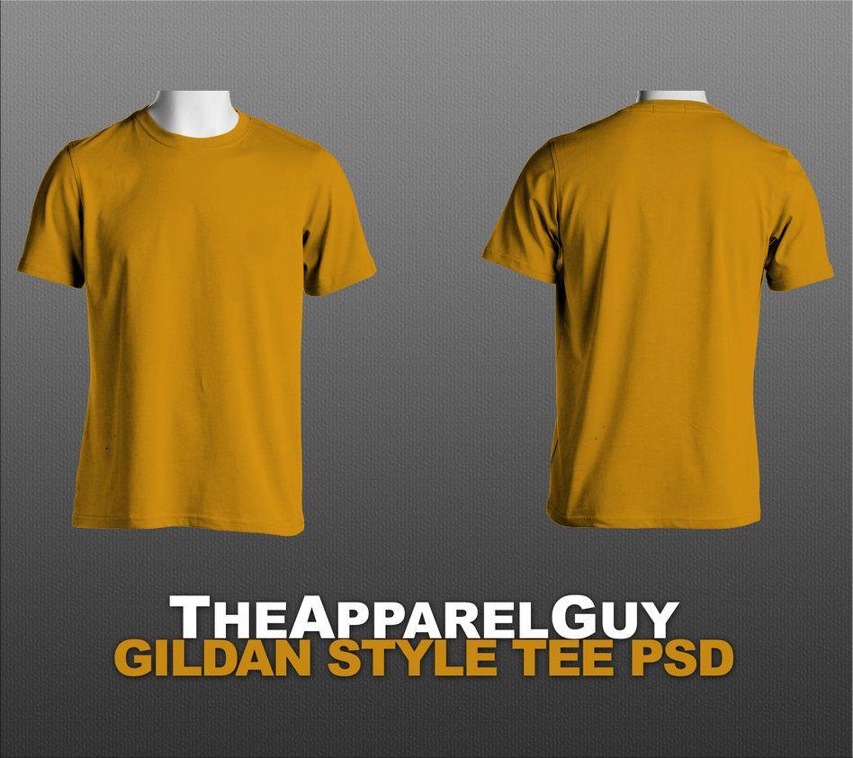 gildan style tee template psd by theapparelguy