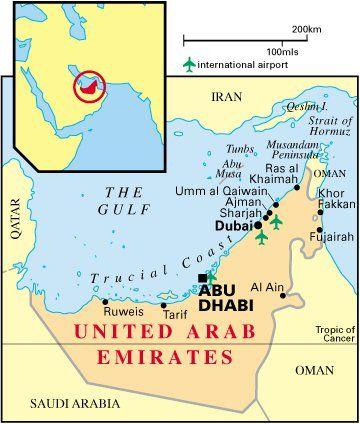 Abu Dhabi, Dubai, Fujeirah, Ajman, Ras Al Khaimah, Sharjah y