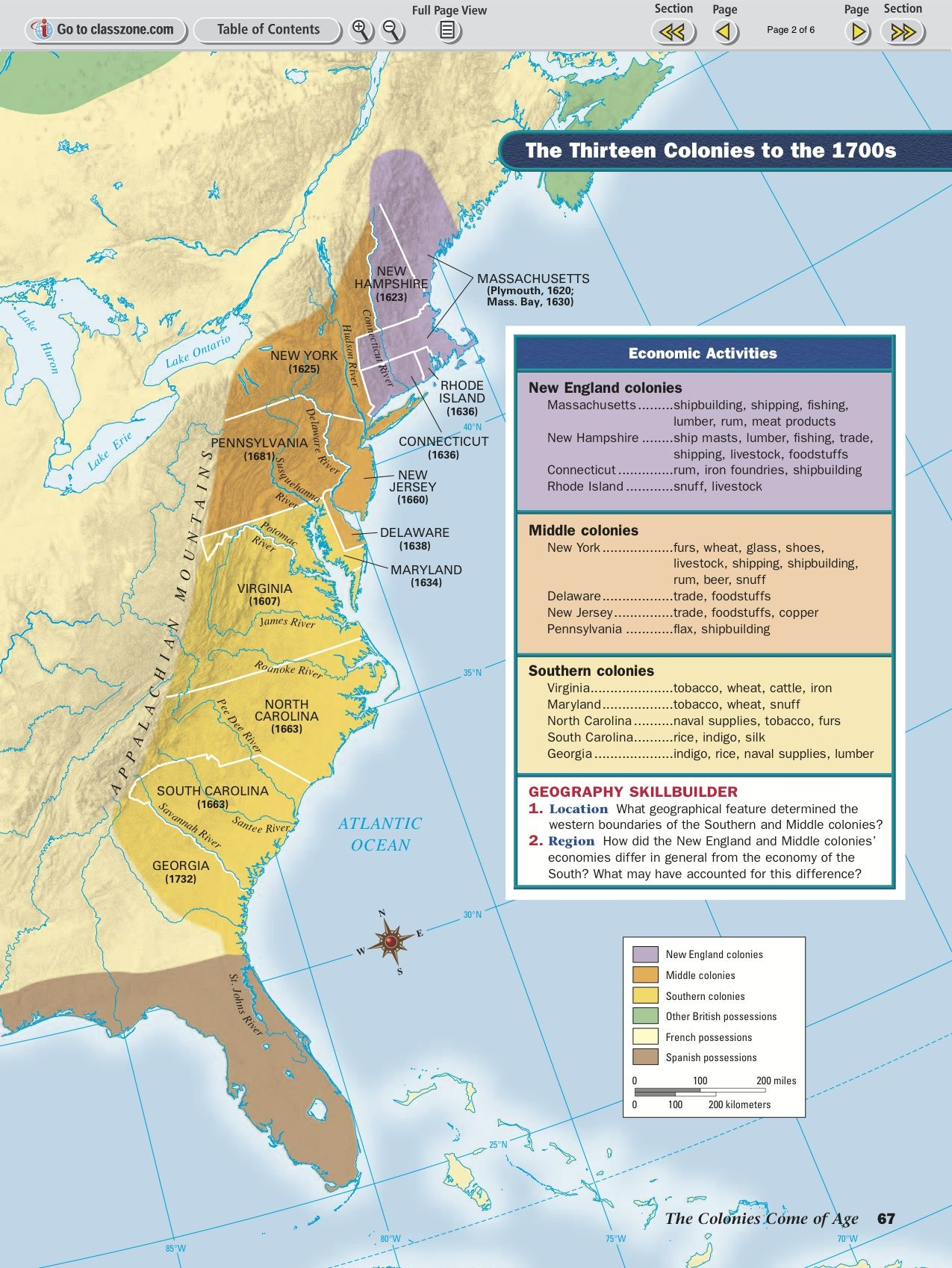 Each Region Of Colonial America Established Different
