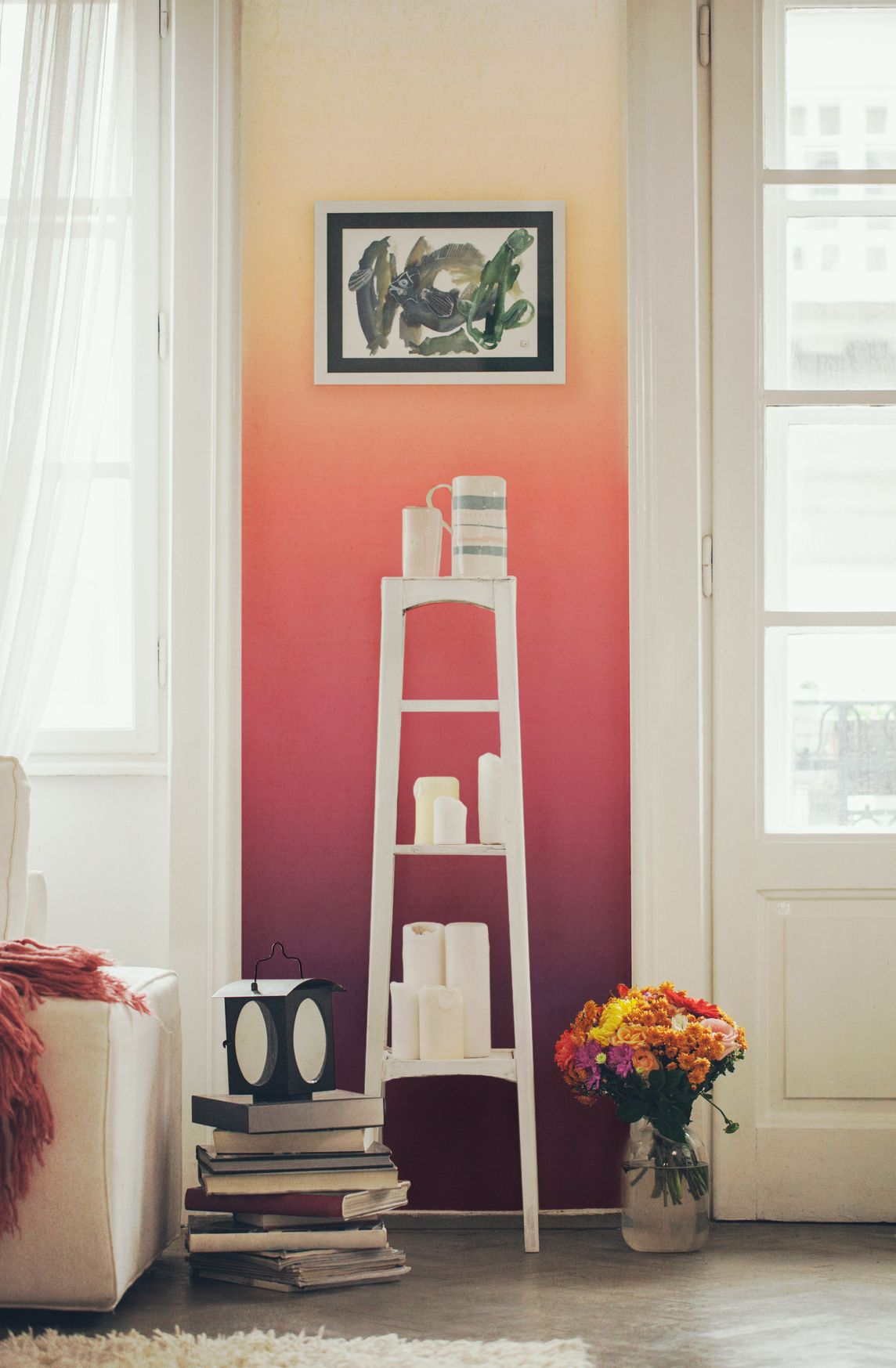 Ombre Sunset Wall Mural Ombre wallpapers, Ombre wall