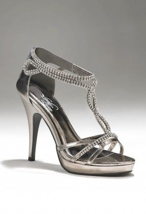ac64e45616a Camille La Vie high heel rhinestone platform sandal shoes in silver  metallic - perfect for prom or wedding
