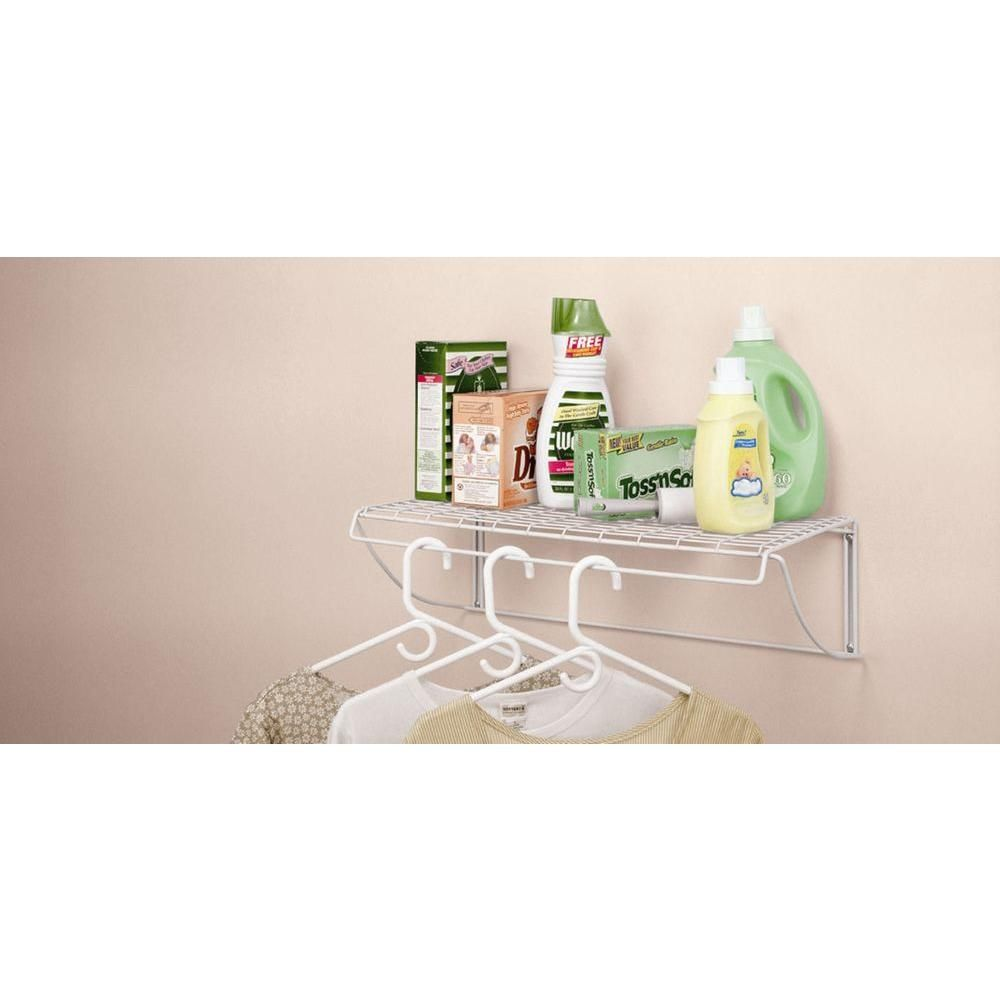 Captivating ClosetMaid 24 In. White Versatile Hanging Shelf 8279   The Home Depot