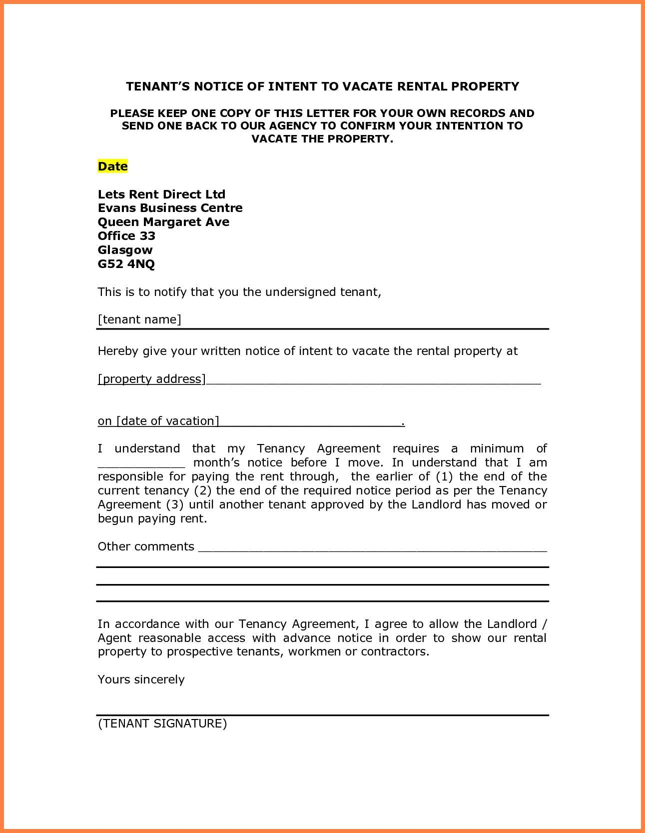 Notice To Vacate Template Very Good Notice To Vacate Apartment Letter Template Samples Of 36 Lettering Letter Templates Letter Template Word