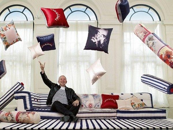 Roche Bobois Mah Jong Sofa Dressed By Jean Paul Gaultier Design Rochebobois Mobilier De France