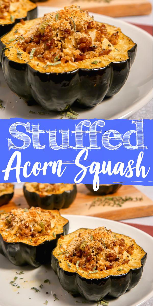 Stuffed Acorn Squash Recipe In 2020 With Images Acorn Squash