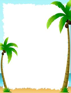 Palm Tree Border Page Borders Tree Borders Page Borders