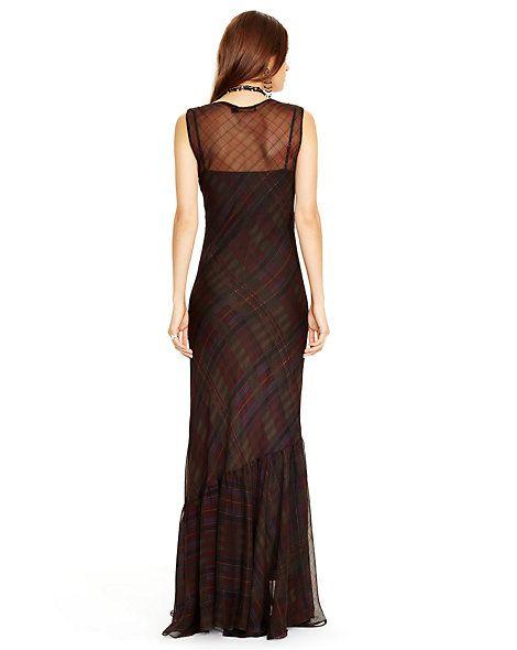 0c730f6617 Silk Plaid Maxidress - Maxi Dresses Dresses - RalphLauren.com ...