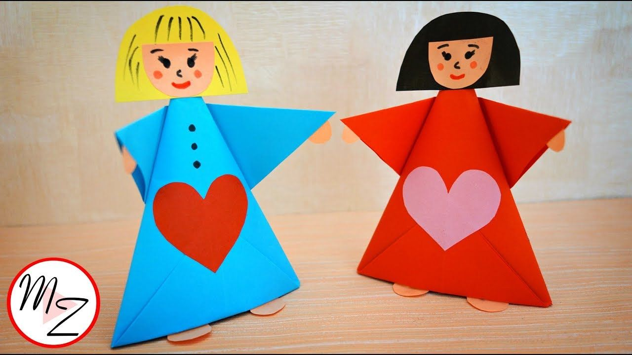 Paper doll making tutorial   Paper crafts for kids DIY   Easy ...