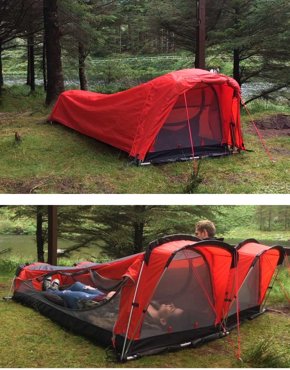 Crua hybrid itus a tent a hammock an air mattress and a sleeping