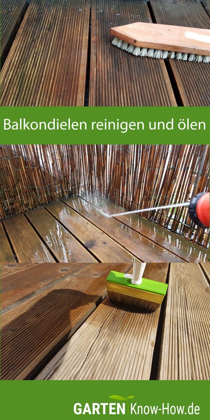 Balkon Dielen Aus Holz Reinigen Und Olen So Klappts Balkon Holz Reinigen Holz