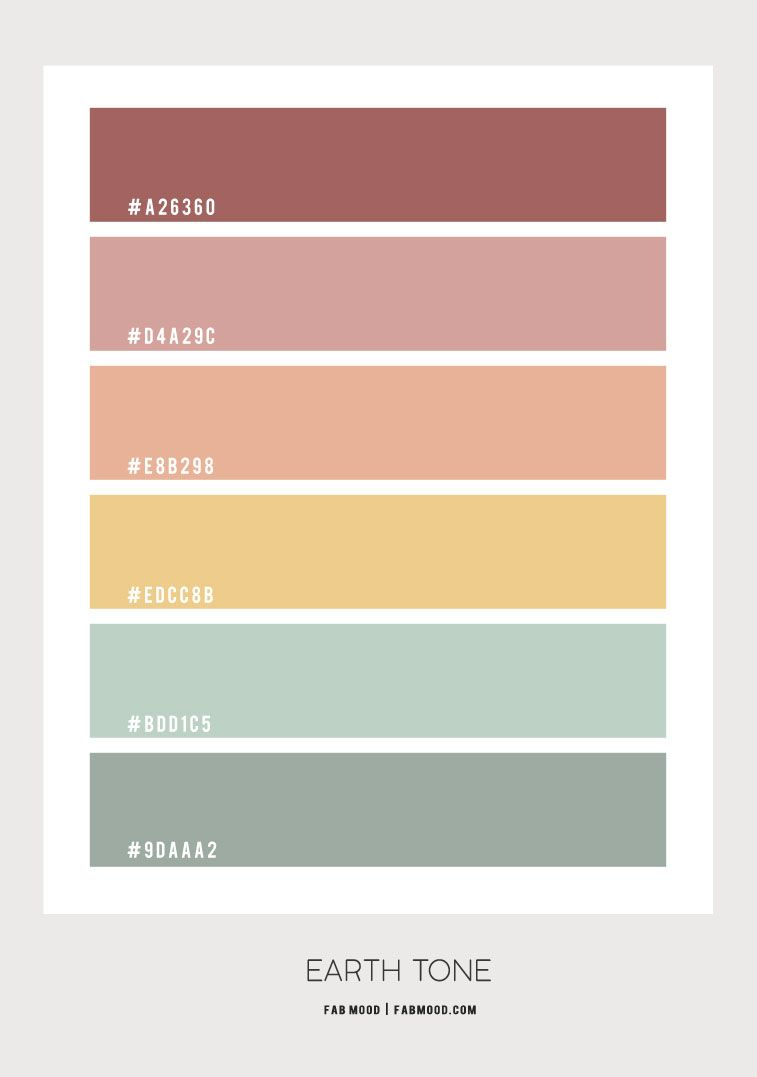Earth Tone Color Scheme  – Color Palette #64
