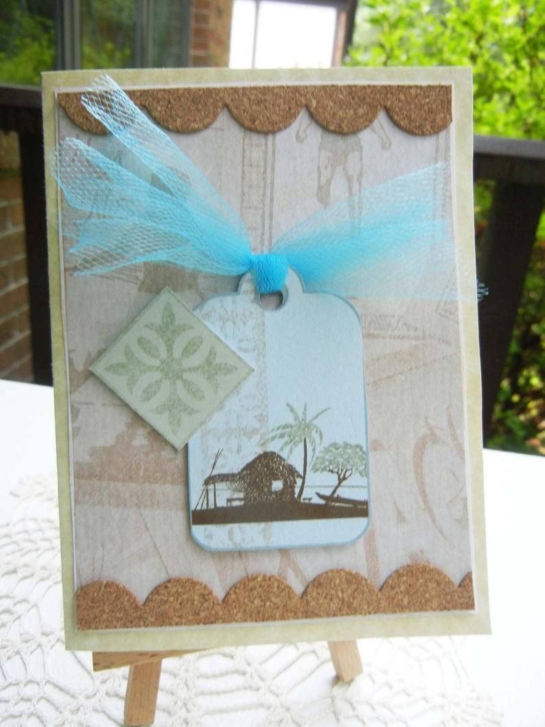 Beach Theme All Occasion Handmade Greeting Card Happy Etsy
