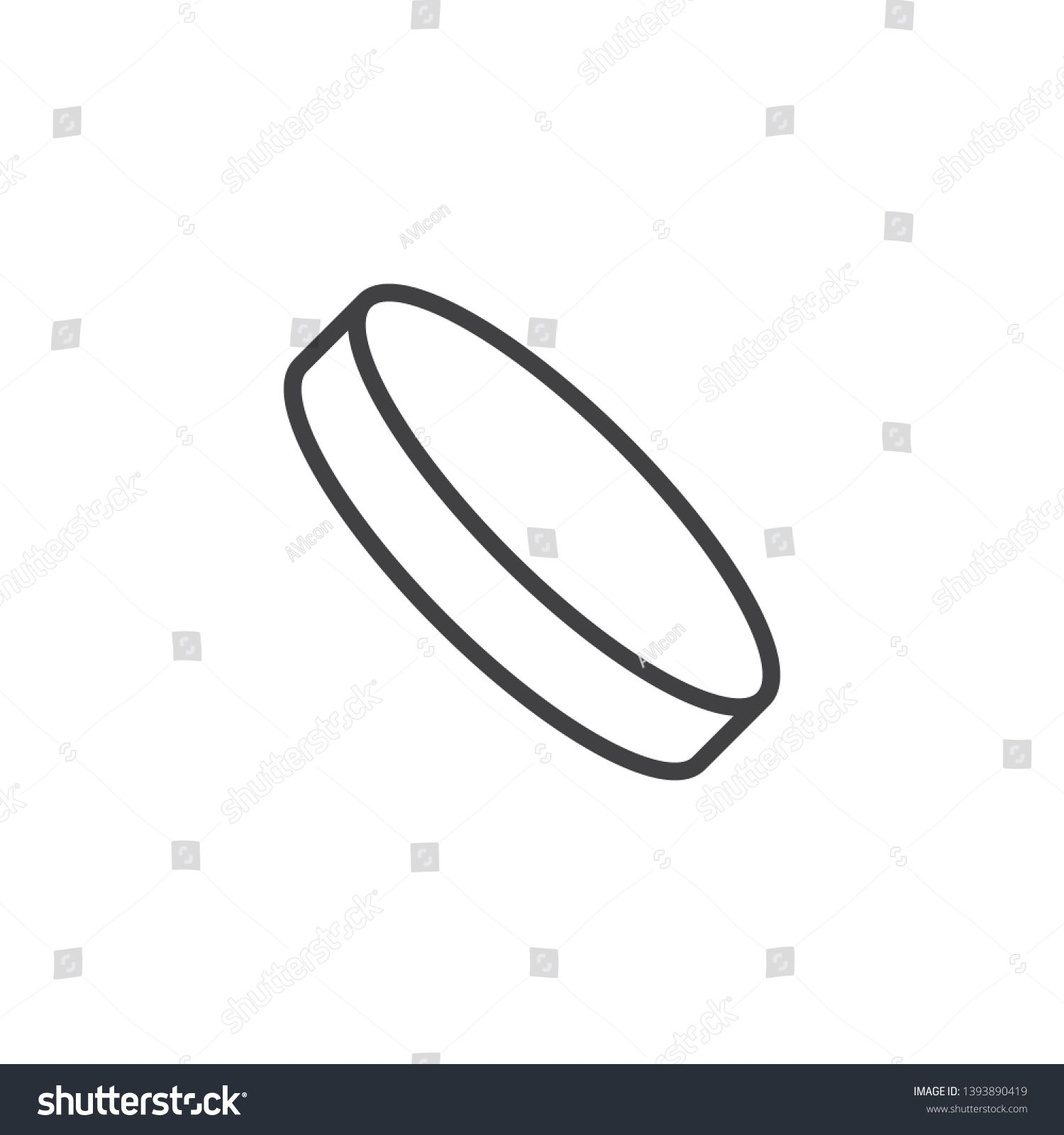 Ice Hockey Puck Line Icon Linear Style Sign For Mobile Concept And Web Design Hockey Sport Outline Vector Icon Symbol Ice Hockey Puck Hockey Puck Ice Hockey