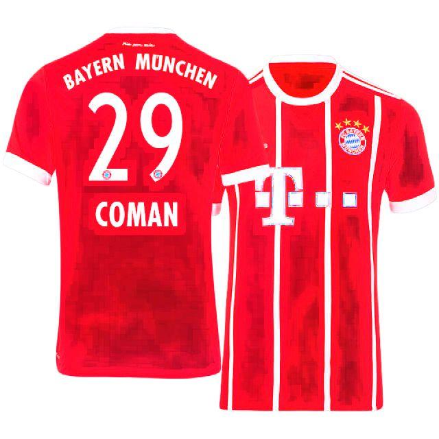 new concept 204d7 b5550 Cheap Bayern Munich Shirt Jersey 17-18 Home kingsley coman ...