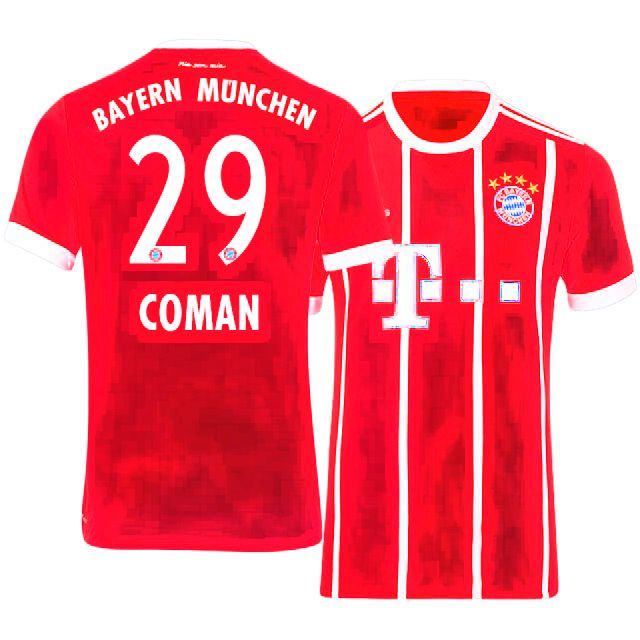 new concept 995fe 517b6 Cheap Bayern Munich Shirt Jersey 17-18 Home kingsley coman ...