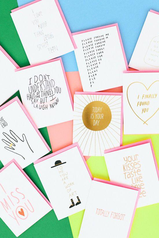 cool cards via designlovefest