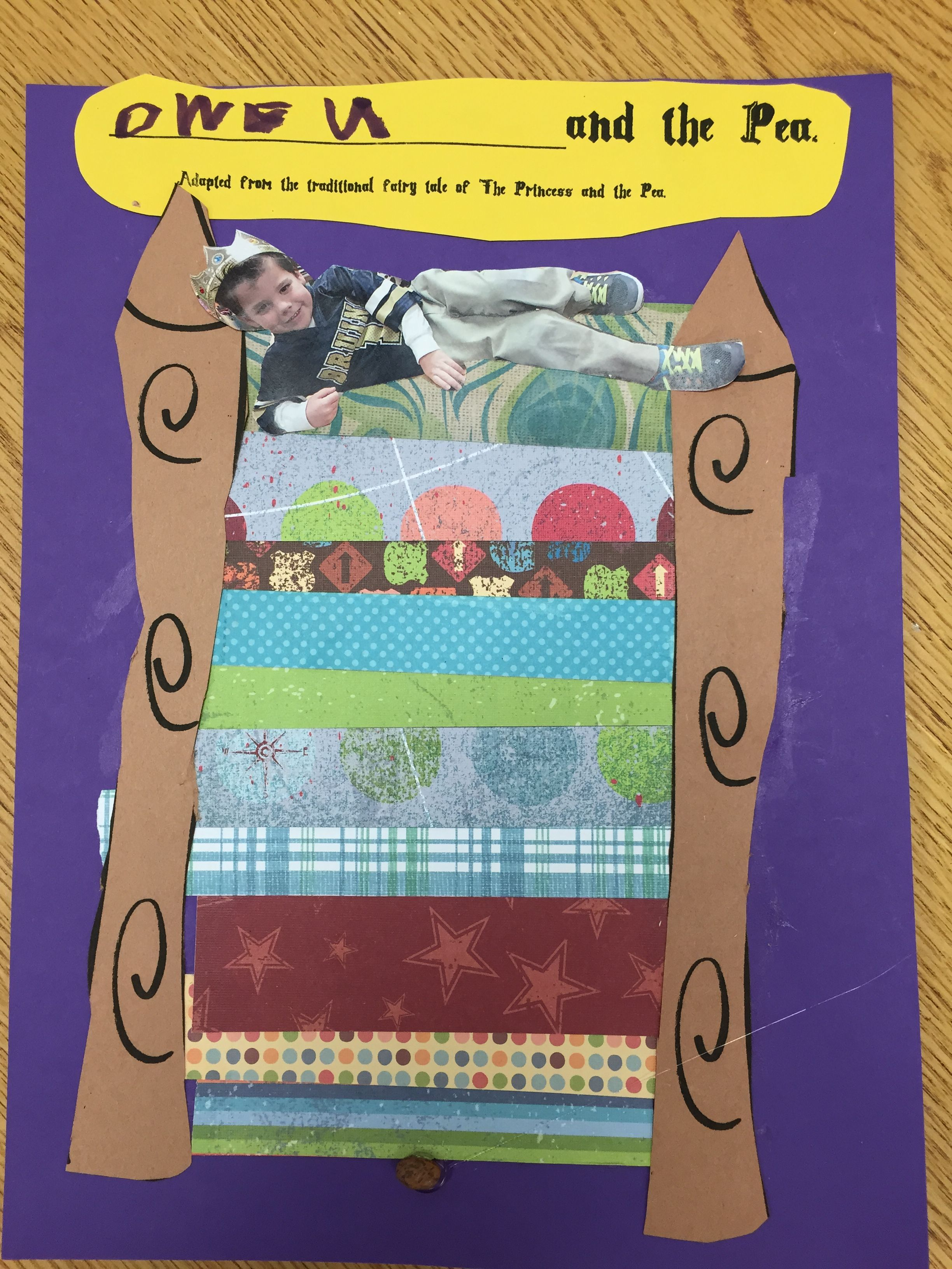 After Reading The Princess And The Pea We Used Scrap Book