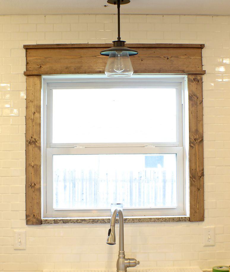 Farmhouse window trim stained craftsman window trim