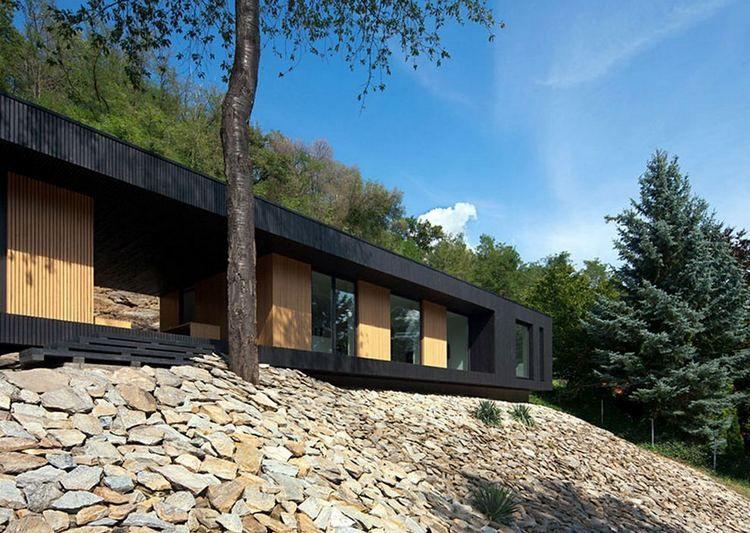 modern home architecture stone. Architecture · Hideg House On A Stone Modern Home B