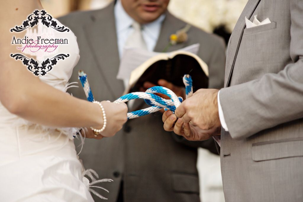 literally tie the knot at your wedding ceremony with a