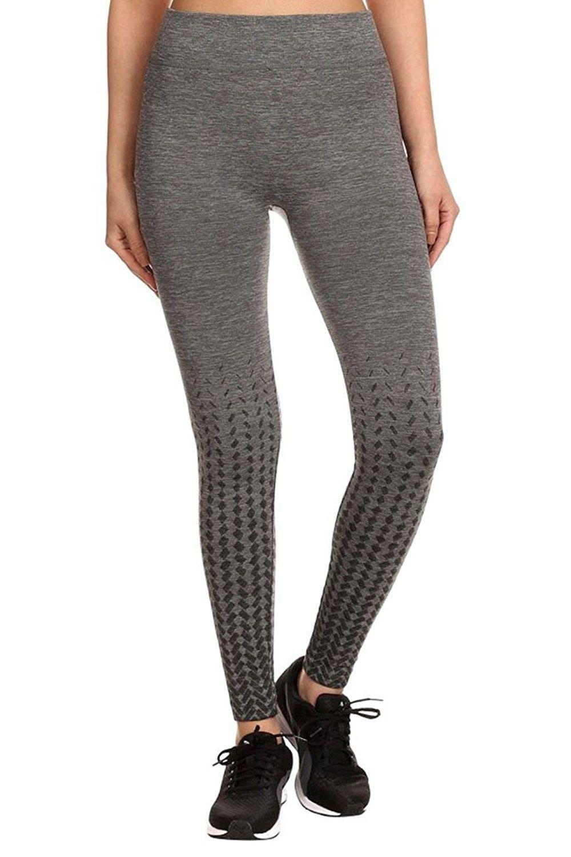 22f25183e3937 Women's Clothing, Active, Active Leggings, Women's Ombre Geometric Seamless  Fleece Lined Sports Legging Pants - Grey/Black - CM12OBJQI1Q #women  #fashion ...