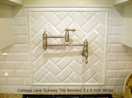 Metro Fliesen · Kamin Im Fischgrätenverband · Layout Design · Herringbone  Pattern Using Cottage Lane Beveled Subway Tiles