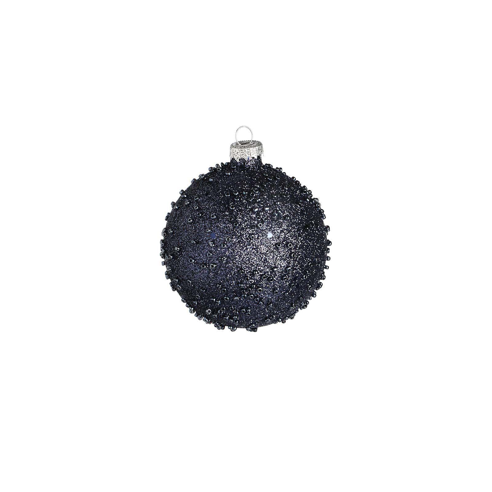 Kugel Granulat Glas dunkelblau ca D:8 cm