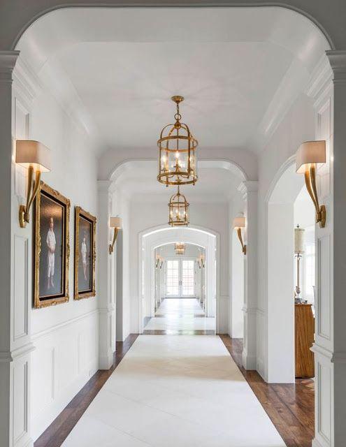 Hallway Lighting, Custom Homes