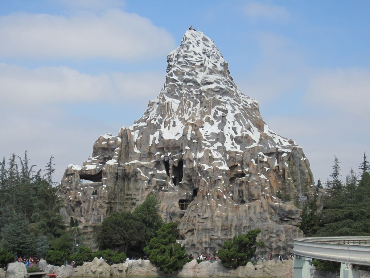 1 The Basketball Court Inside The Matterhorn Therichest Disneyland California Adventure Disneyland Disneyland Trip