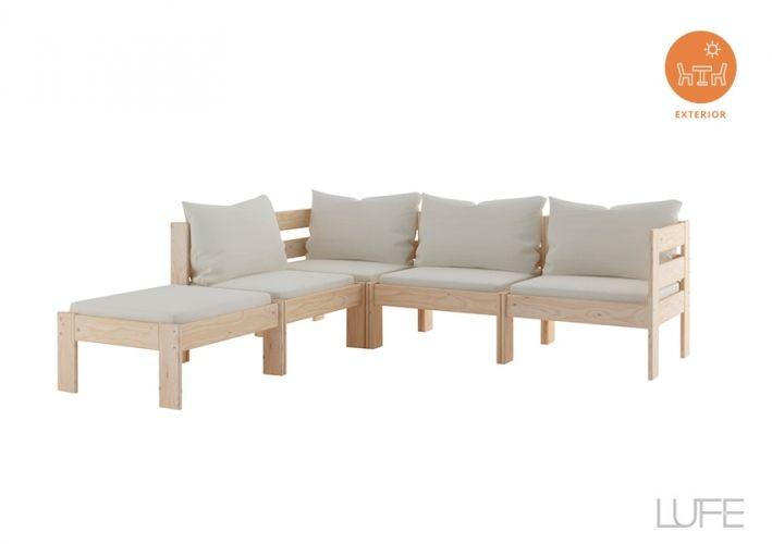 Comprar sofás jardín esquineros baratos de 4 o 5 plazas de
