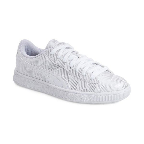 PUMA 'Brooklynite - Sophia Chang' Classic Sneaker ($70) ❤ liked on Polyvore featuring shoes, sneakers, puma shoes, rubber sole shoes, leather sneakers, puma footwear and puma trainers