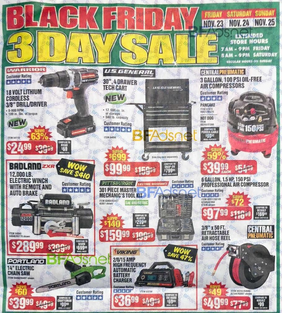 Harbor Freight Black Friday 2018 Ad Scan Deals And Sales Harbor Freight Black Friday 2018 The 8 Page 106 Item Harbor Freight Black Friday Ad Is Here Harbor