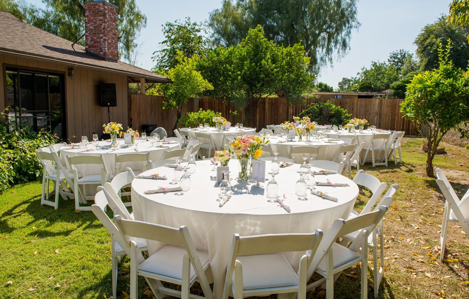 Front yard wedding reception   Garden wedding reception ...