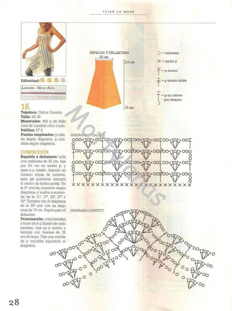 CARAMELO DE CROCHET: vestido crochet | crochet dress | Pinterest ...