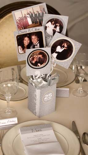 25th Anniversary Centerpiece Kits Easily Create Stunning Photo Centerpieces 50th Centerpieces25th Wedding Party Ideasbirthday