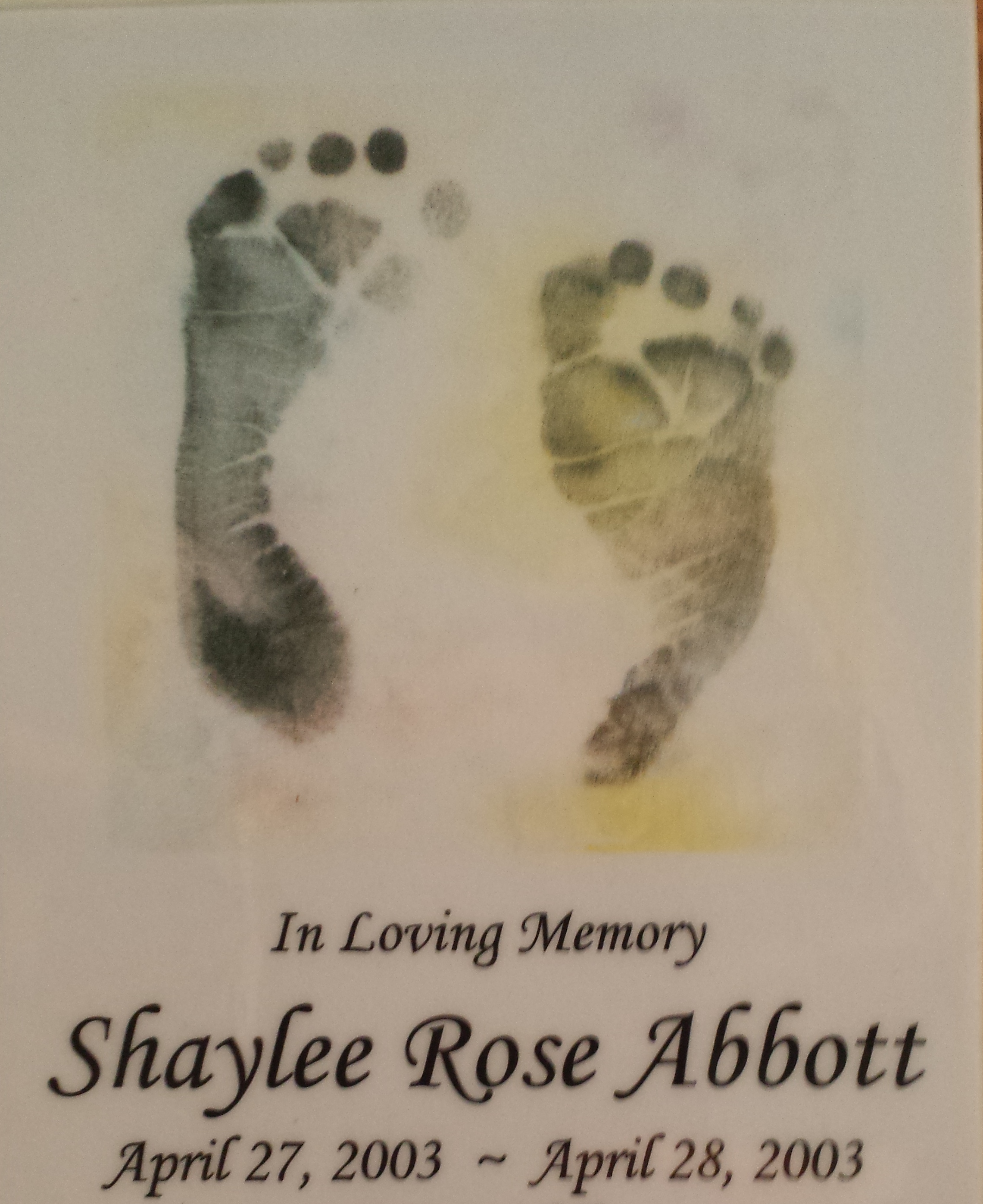 Our beautiful daughter...forever in my heart.