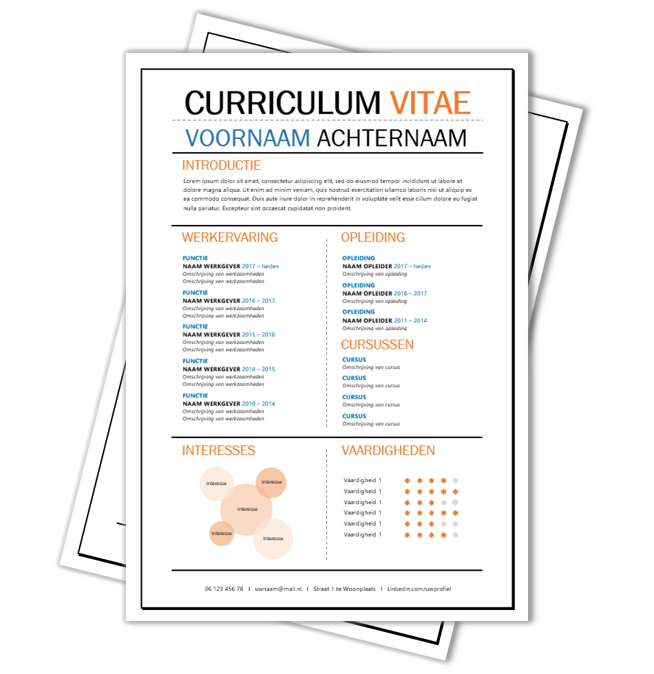 motivatiebrief template CV Voorbeeld #97 | Cv template and Template motivatiebrief template