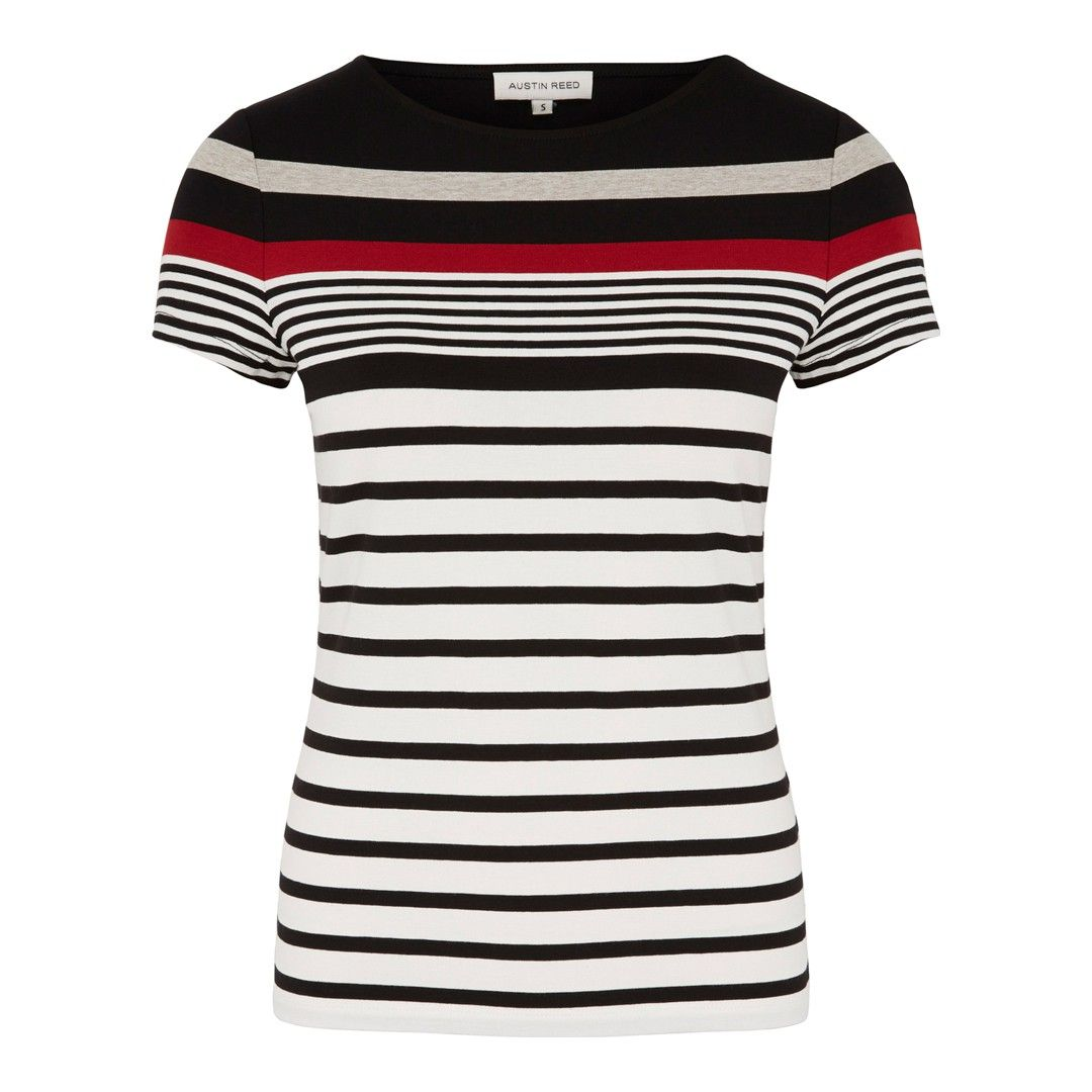 Women S Navy White Multi Striped Top Striped Top Navy And White Tops