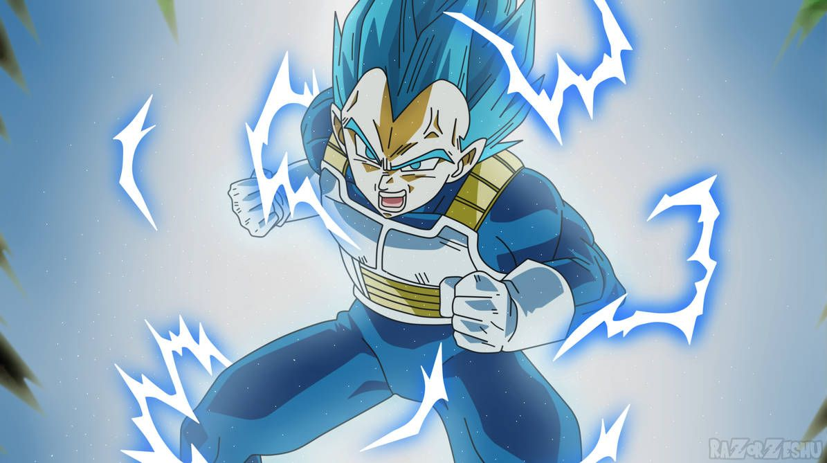 Dragon Ball Super Vegeta Ssj2 Blue By Razorzeshu Dragon Ball Super Dragon Ball Super Vegeta