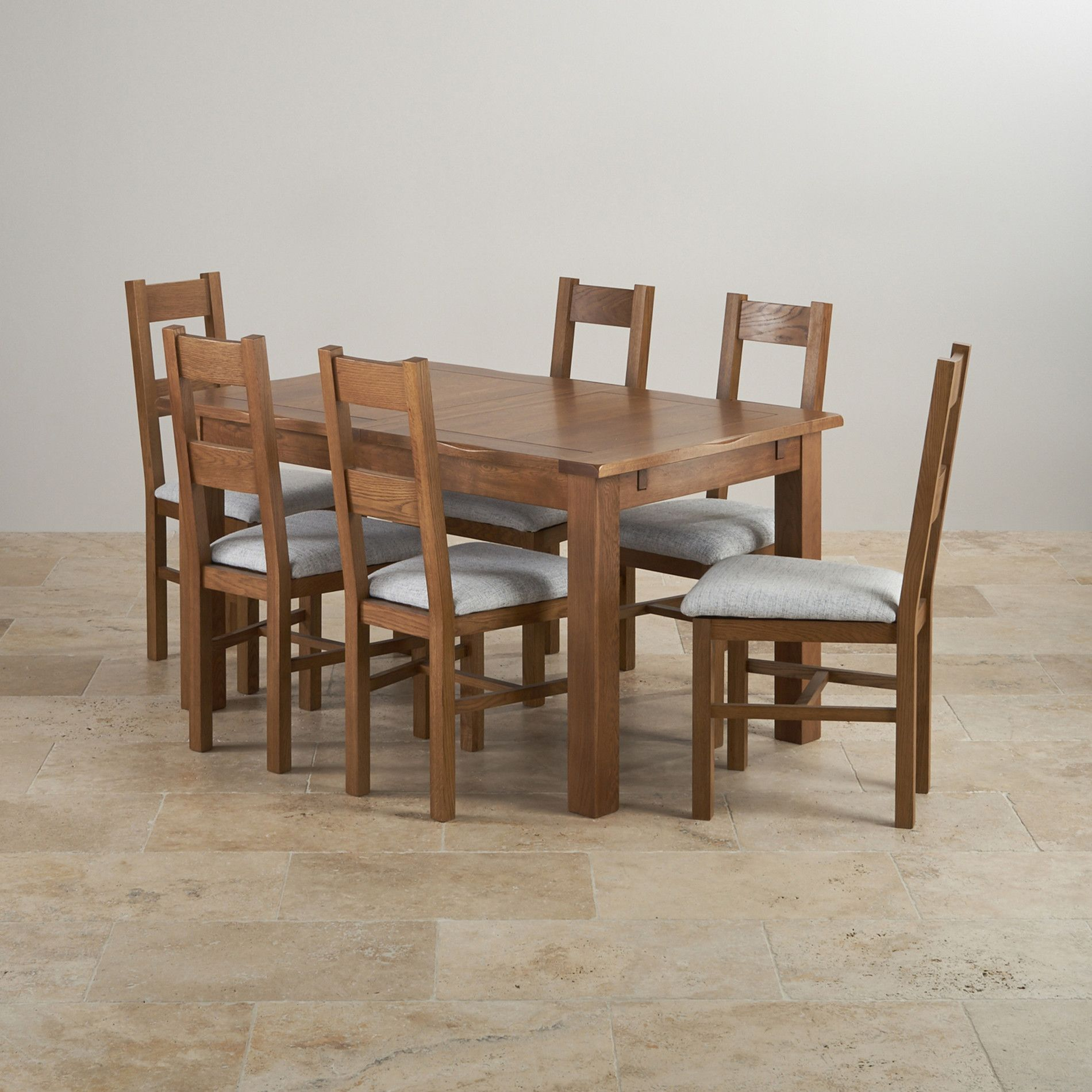 solid oak dining sets 4ft 7 dining table with 6 chairs rushmere rh pinterest com