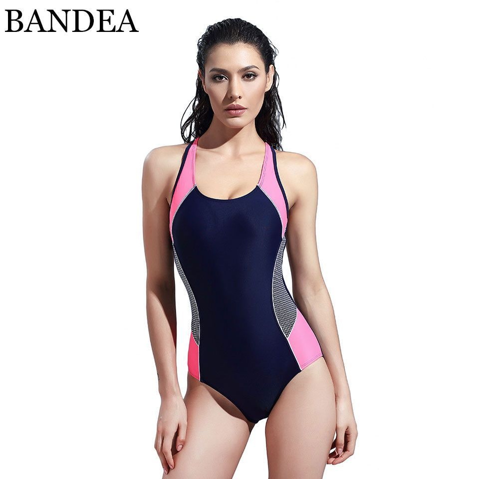 ddf52485a1340 SYROKAN Womens Plus Size Conservative Athletic Racerback One Piece Swimsuit