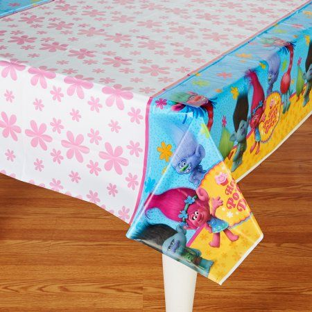 """2 Shimmer and Shine Party Plastic Tablecover 54/"""" x 96/"""""""