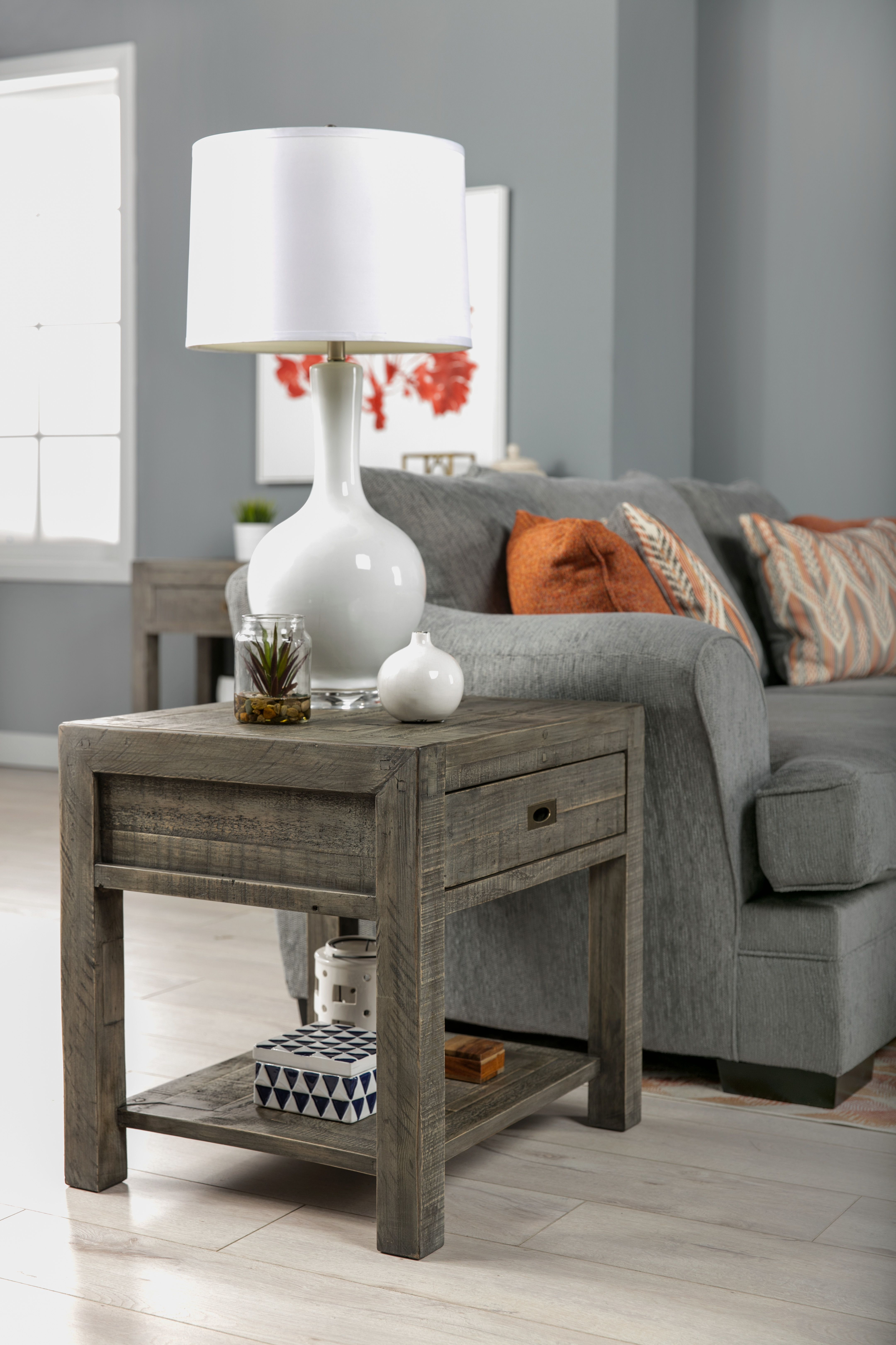 living room end tables big lots mustard and gray great livingroom inspiration reclaimed wood side table your space spaces
