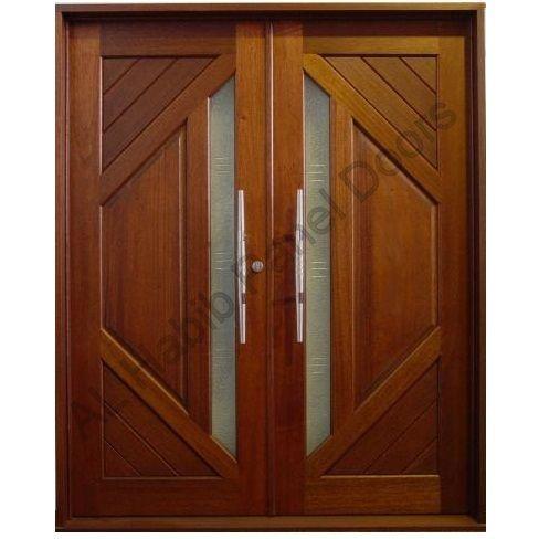 Solid Diyar Wood Double Door Hpd419 Main Doors Al